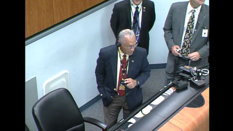 see the image 'NASA Administrator Congratulates MAVEN Launch Team'