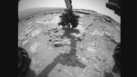 see the image 'Curiosity Rover Gives Mars the Brush-Off'