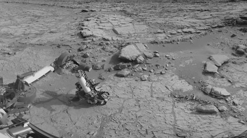 see the image 'Curiosity Rover Hits Paydirt '