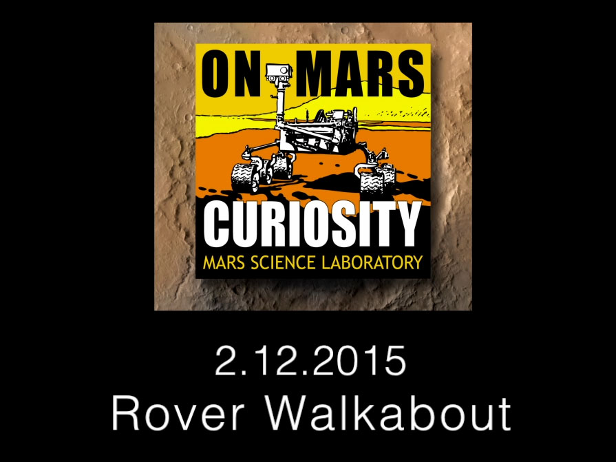 Curiosity Rover Report: Rover Walkabout