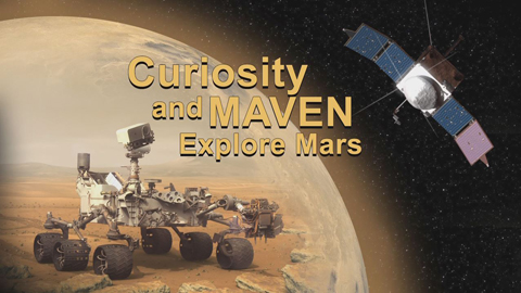 see the image 'Curiosity and MAVEN Explore Mars'