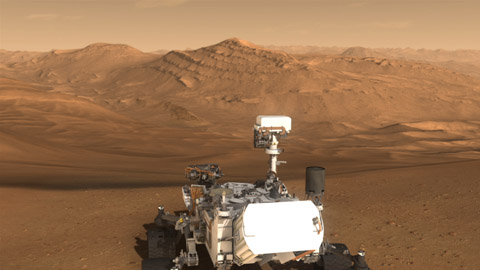 see the image 'Challenges of Getting to Mars: Selecting a Landing Site'