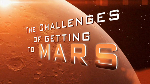 see the image 'Challenges of Getting to Mars: Getting a Rover Ready for Launch'