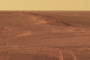 Watch Opportunity's Long Tracks on Crater Rim