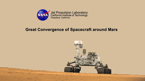 see the image 'Great Convergence of Spacecraft around Mars'