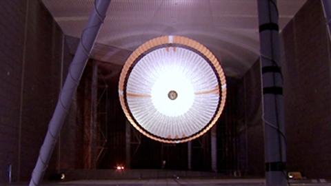 see the image 'The Martians: Testing Curiosity's Parachute - Part 3'