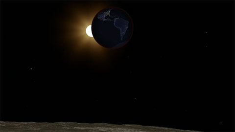 see the image 'Lunar Eclipse As Seen From The Moon (artist concept)'