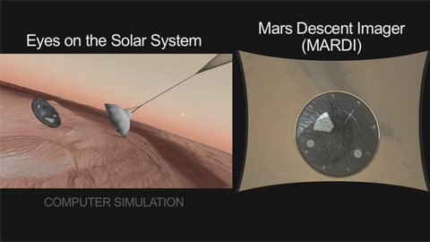 see the image 'What It's Like to Land On Mars'