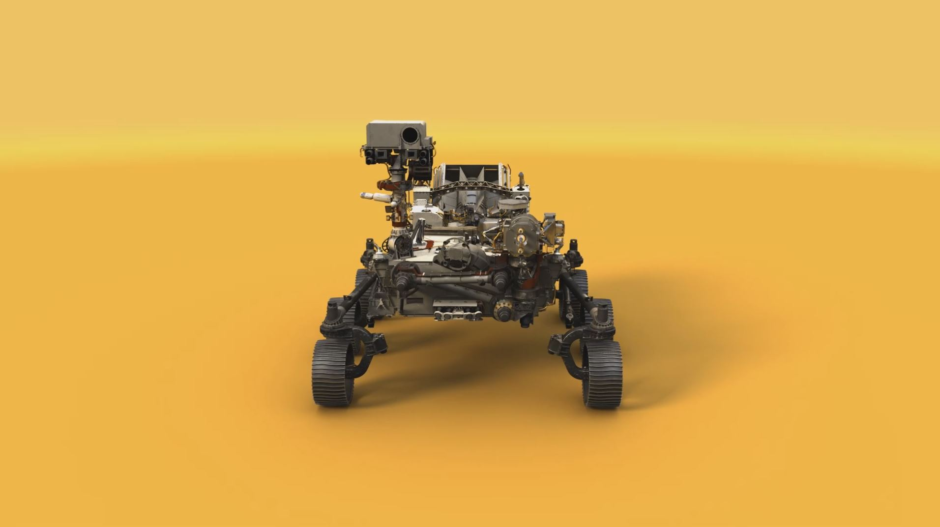see the image 'Mars 2020 Rover Model Video'