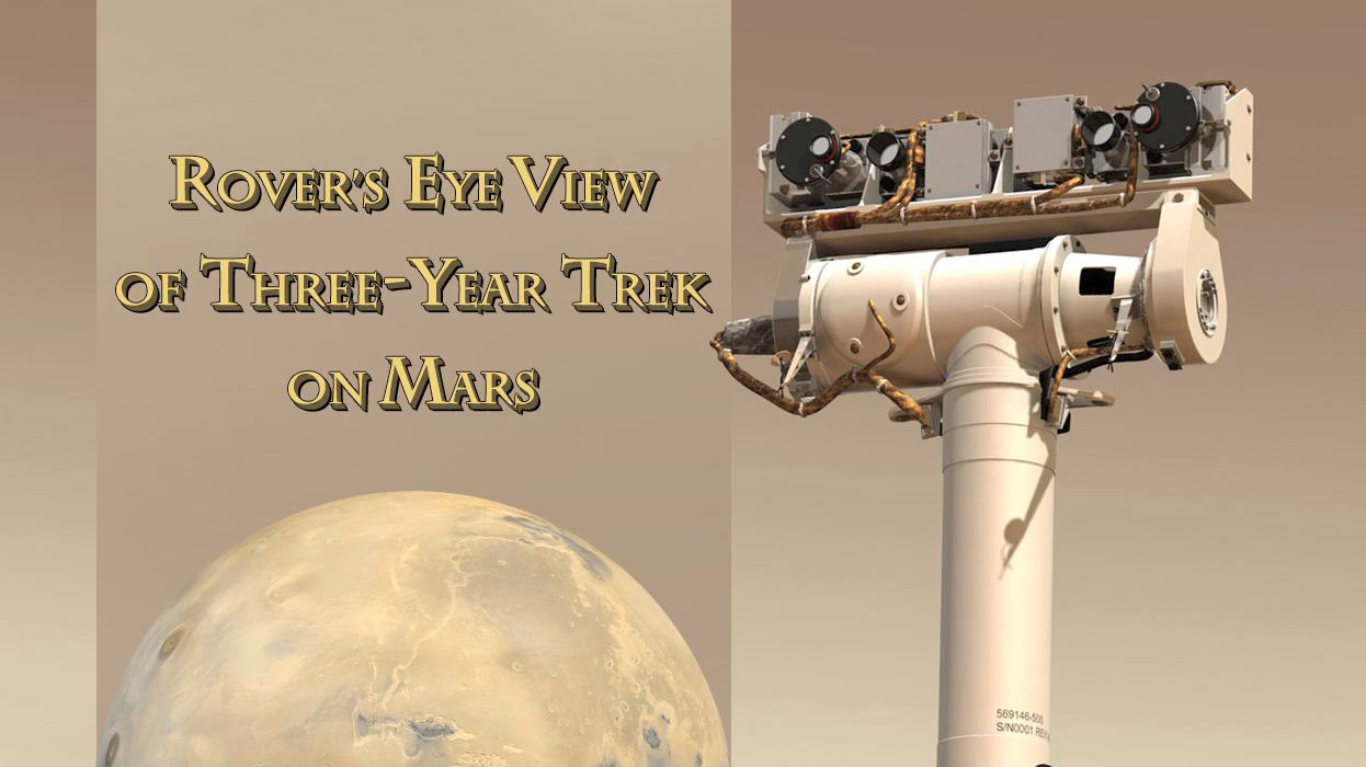 see the image 'Rovers Eye View of Three-Year Trek on Mars'