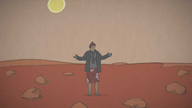 see the image 'Mars in a Minute: Is Mars Red Hot?'