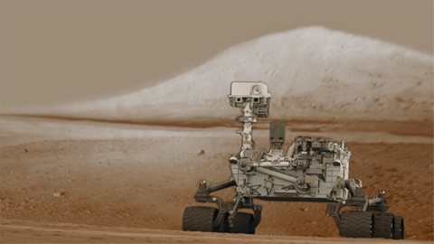 see the image 'Curiosity's First Low-Resolution Color Panorama'