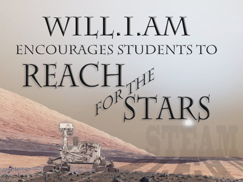 see the image 'Students Reach for the Stars with will.i.am'