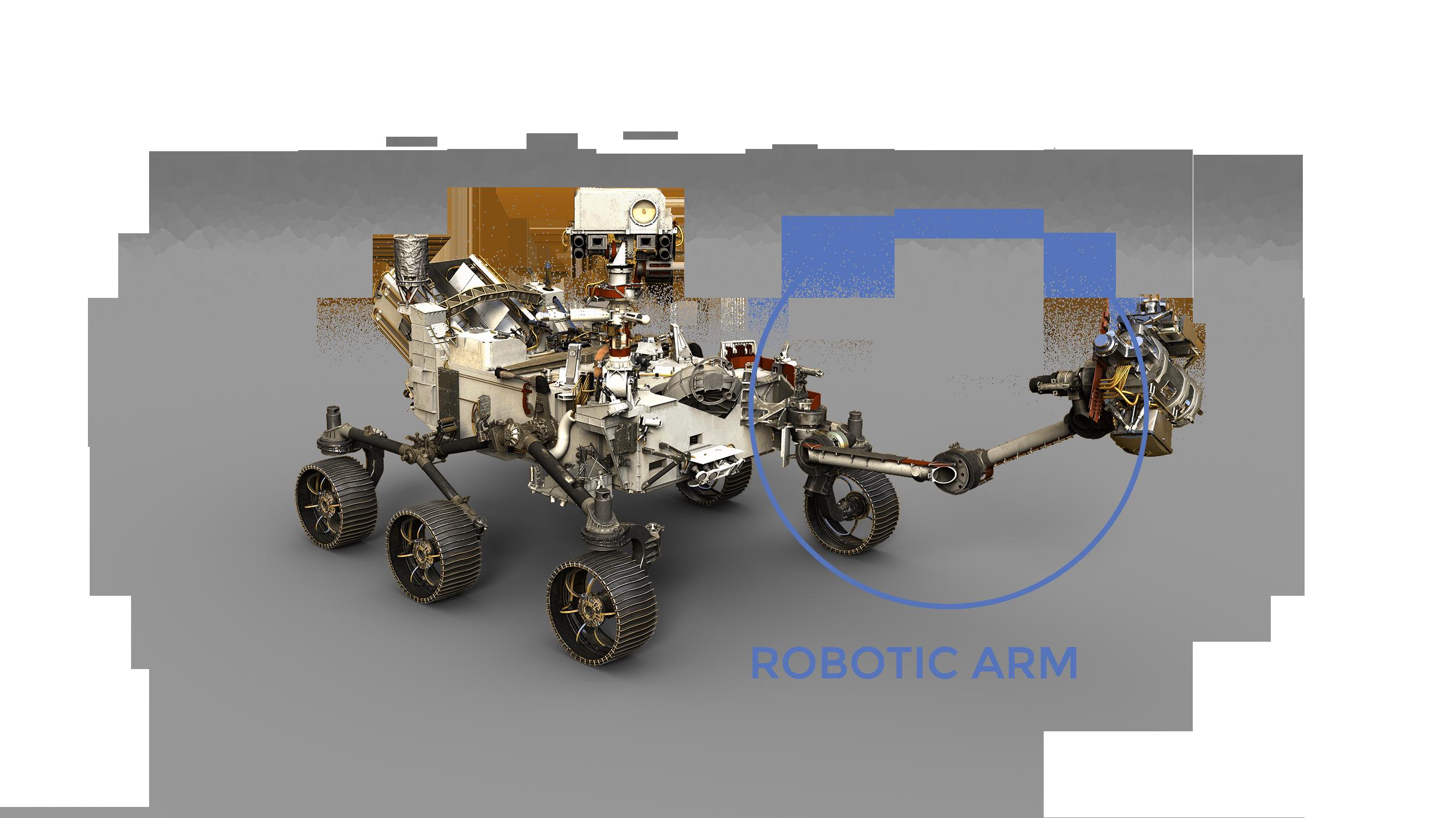 rover, focus sul braccio robotico, il tuttofare della missione Credits: NASA/JPL-Caltech