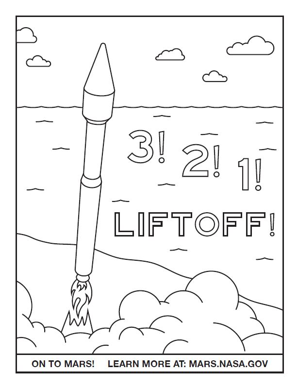 ATLAS Launch Coloring Sheet