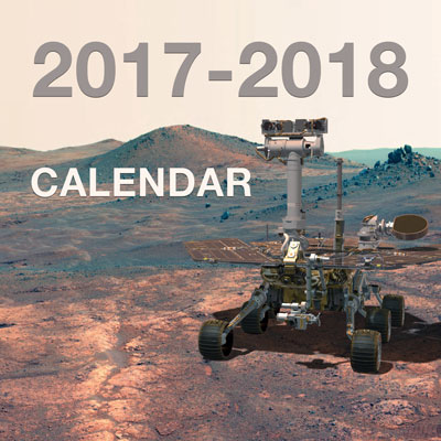 Download a Mars Exploration Rover calendar for 2017 and 2018