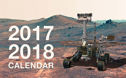 Click to download: 2017 - 2018 Mars Exploration Rover Calendar
