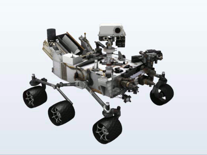 Click to download: Curiosity Rover 3D Model