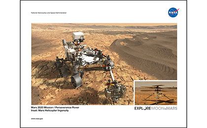 Click to download: Mars 2020 Rover and Helicopter Lithograph