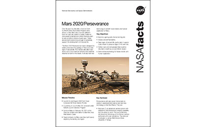 Click to download: Mars 2020 Perseverance Fact Sheet