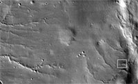 This image is a mosaic combining 10 side-by-side exposures taken through red filters, presented at greatly reduced scale. This view shows the ground covered in the first image of Mars taken by the High Resolution Imaging Science Experiment camera (HiRISE) on NASA's Mars Reconnaissance Orbiter.