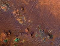 Color image of Nili Fossae Trough, a candidate Mars Science Lab landing site.