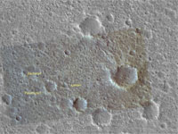 This image was taken by MRO and it shows the Viking 1 landing site.