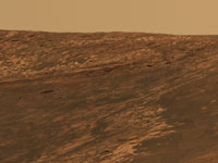 Opportunity image of a feature called Karatepe within the impact crater known as Endurance