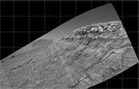 Opportunity's view of 'Burns Cliff'