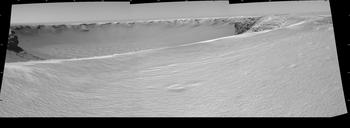 Opportunity view of Victoria Crater