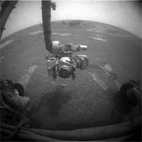 view from Opportunity after first drive in six weeks