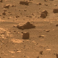 First Image from a Mars Rover Choosing a Target'