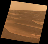 Rim of Bopolu Crater Far to the Southwest of Opportunity'