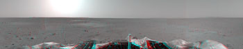 First 3-D panorama of landing site