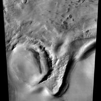 Image of Mars south polar layered deposits captured by Odyssey