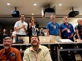 Excitement builds at NASA's Jet Propulsion Laboratory when news of a successful parachute deployment from the Mars Science Laboratory spacecraft reaches the science team.