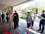 Teachers have fun putting their skills to the test in this hands-on activity during the Curiosity Educator Workshop at NASA's Jet Propulsion Laboratory in Pasadena, Calif