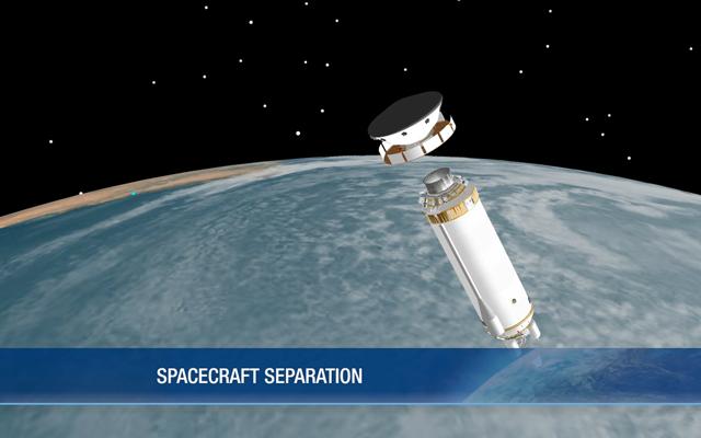 Curiosity Spacecraft Separates to Cruise Phasetitle=