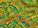 Ancient floods carved Kasei Valles