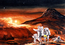 see the image 'Artist's concept of the landing of the first human mission to Mars.'
