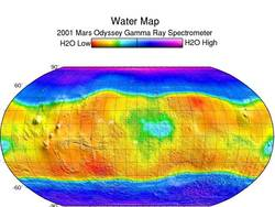 hydrogen at the north and south poles