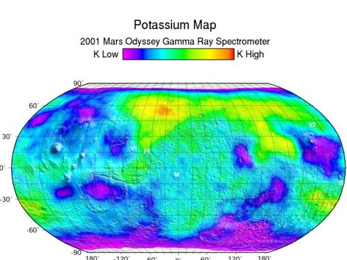Gamma ray map