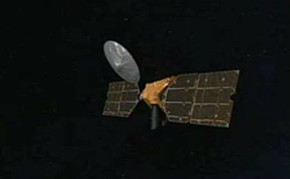 View image for Artist's concept of Mars Reconnaissance Orbiter en route to Mars.