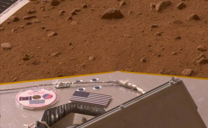 U.S. Flag on the Phoenix Mars Lander
