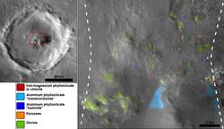 Hydrated Minerals Exposed at Stokes, Northern Mars