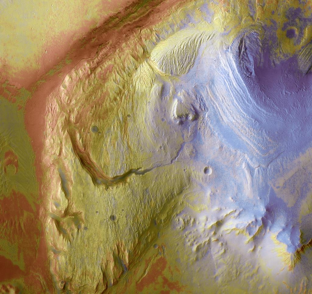 Gale Crater forms a large natural repository for much of Martian geologic history.