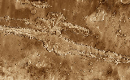 read the article 'The Grand Canyon of Mars-Valles Marineris'