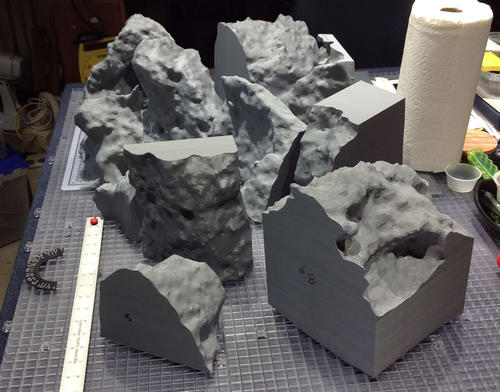Researchers created each of 11 pieces in the 3D printer and glued them together to build the true-size model.