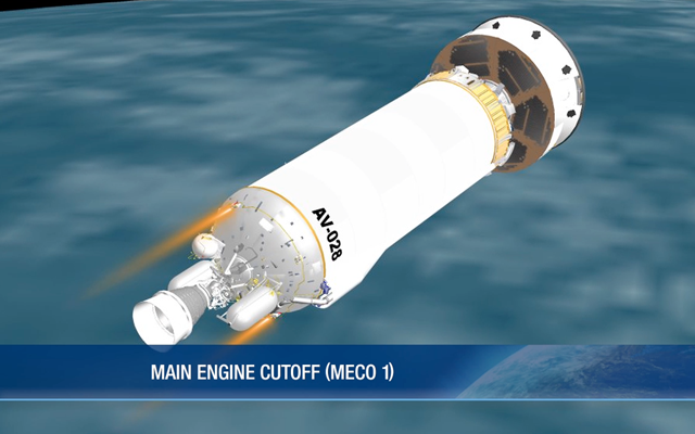 First Main Engine Cutoff (MECO 1) title=