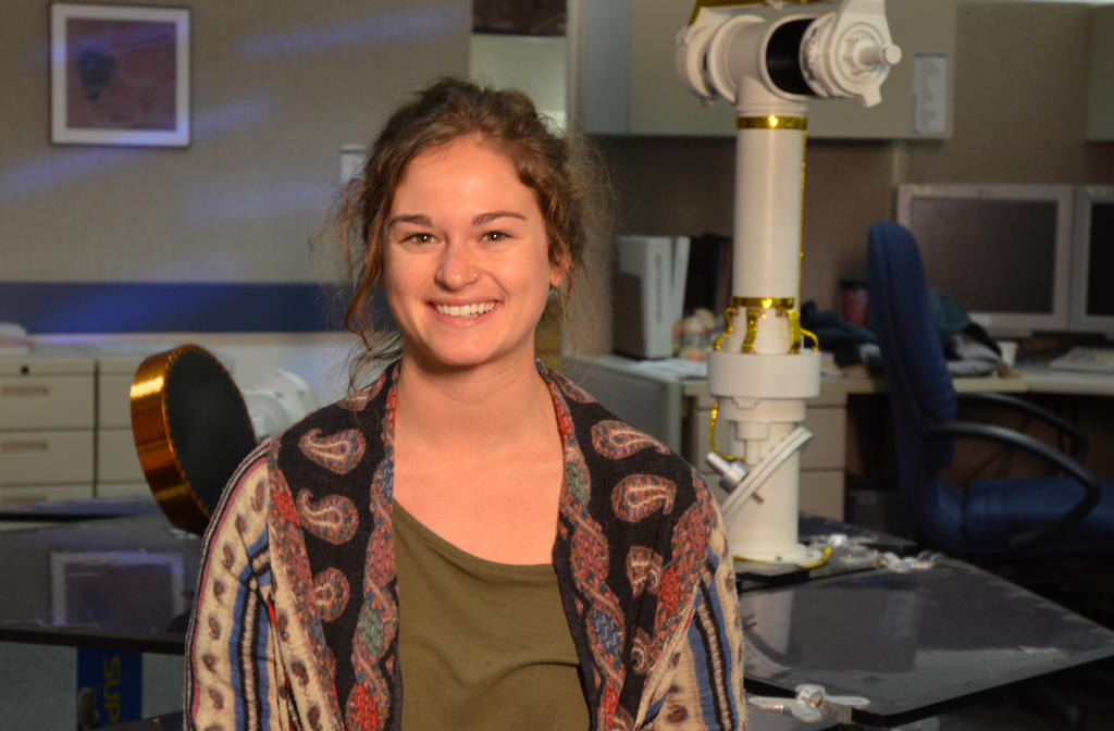 Bekah Sosland was an eighth-grade student in Fredericksburg, Texas, when NASA's Mars Exploration Rovers Spirit and Opportunity landed on Mars in January 2004.